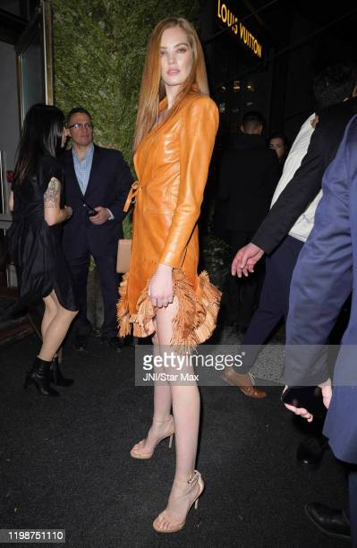 Alexina Graham is seen on February 4 2020 in New York City