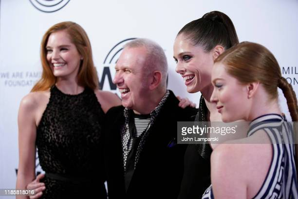 Alexina Graham Jean Paul Gaultier Coco Rocha and Larsen Thompson attend We Are Family Foundation honors Dolly Parton Jean Paul Gaultier at...