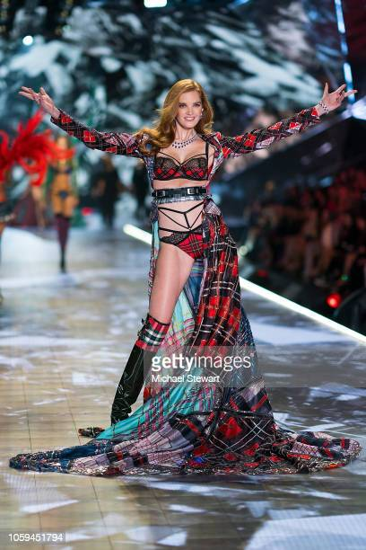 Alexina Graham walks the runway during the 2018 Victoria's Secret Fashion Show at Pier 94 on November 8 2018 in New York City