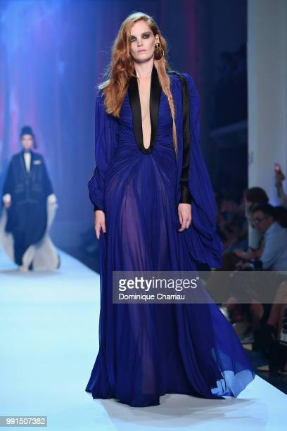 Alexina Graham walks the runway during the JeanPaul Gaultier Haute Couture Fall/Winter 20182019 show as part of Haute Couture Paris Fashion Week on...