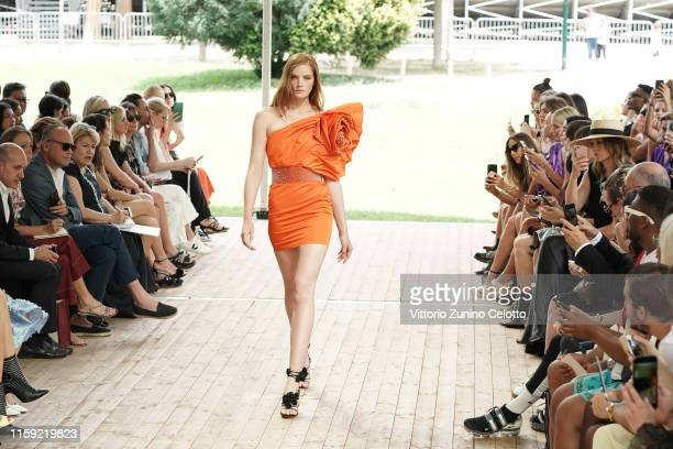 Alexina Graham walks the runway during the Redemption Haute Couture Fall/Winter 2019 2020 show as part of Paris Fashion Week on June 30 2019 in Paris...