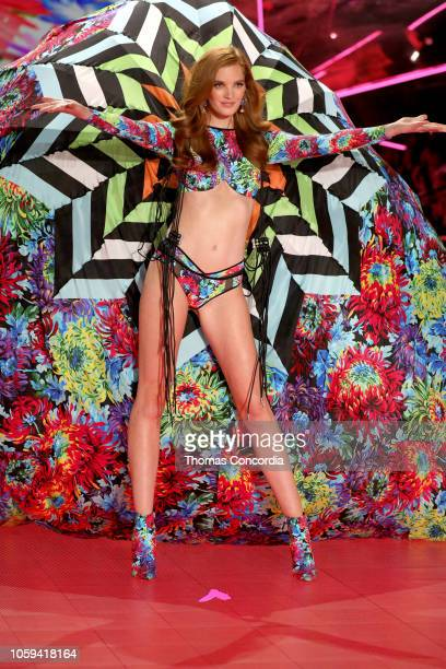 Alexina Graham walks the runway wearing Swarovski in the 2018 Victoria's Secret Fashion Show at Pier 94 on November 8 2018 in New York City