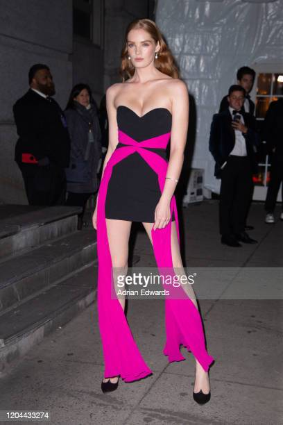 Alexina Lorna Graham outside the amFAR Gala held at Cipriani Wall St on February 5, 2020 in New York City.