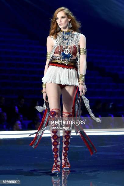 Alexinia Graham walks the runway during the 2017 Victoria's Secret Fashion Show In Shanghai at MercedesBenz Arena on November 20 2017 in Shanghai...