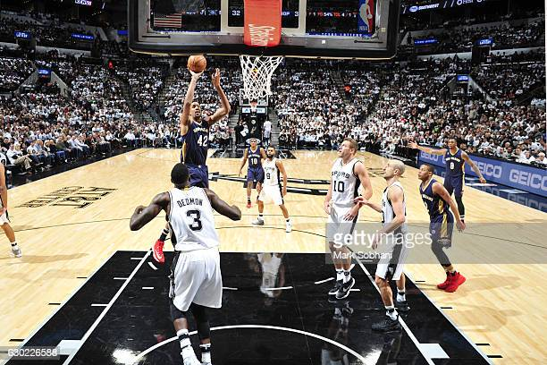 Alexis Ajinca of the New Orleans Pelicans shoots the ball San Antonio Spurs on December 18 2016 at the ATT Center in San Antonio Texas NOTE TO USER...