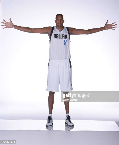Alexis Ajincai of the Dallas Mavericks poses for a photo during the Mavericks Media Day on September 27, 2010 at the American Airlines Center in...