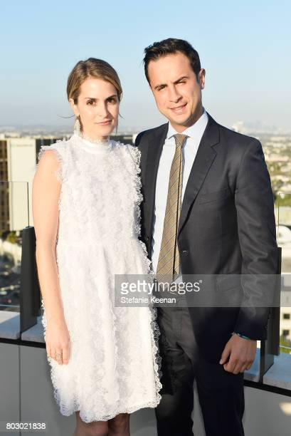 Alexis Alagem and Ryan Draizin attend Waldorf Astoria Beverly Hills Grand Opening Cocktail Celebration on June 28 2017 in Beverly Hills California