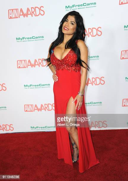 Alexis Amore attends the 2018 Adult Video News Awards held at Hard Rock Hotel Casino on January 27 2018 in Las Vegas Nevada