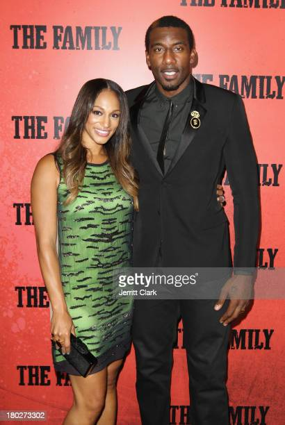 Alexis and Amar'e Stoudemire attend The Family World Premiere at AMC Lincoln Square Theater on September 10 2013 in New York City