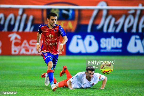 Alexis Araujo of Gazelec during the Ligue 2 match between GFC Ajaccio and AS Beziers on October 26 2018 in Ajaccio France