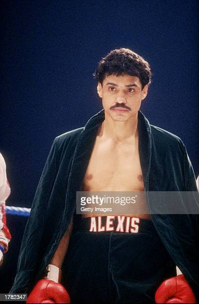 Alexis Arguello looks on during a bout Mandatory Credit Allsport /Allsport