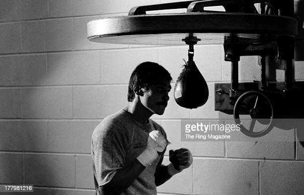 Alexis Arguello training for Claude Noel fight in Atlantic City