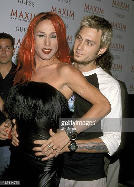 Alexis Arquette and Boyfriend during Grand Opening Party for Maxim Hotel at Maxim Hotel in Hollywood California United States