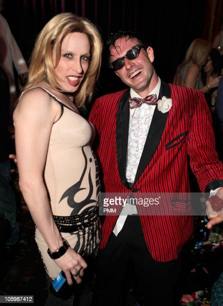 Alexis Arquette and David Arquette attend the birthday celebration for Shenae Grimes and Jessica Stroup at Arquette and Beacher's Madhouse Presented...