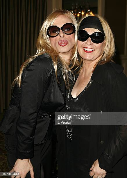 Alexis Arquette and Roseanne Barr during AFI Honors Hollywood's Arquette Family With The Sixth Annual 'Platinum Circle Awards' Green Room and Show in...