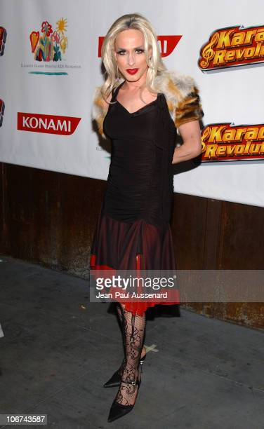 Alexis Arquette at the Karaoke Revolution hosted by the Elizabeth Glaser Pediatric AIDS Foundation