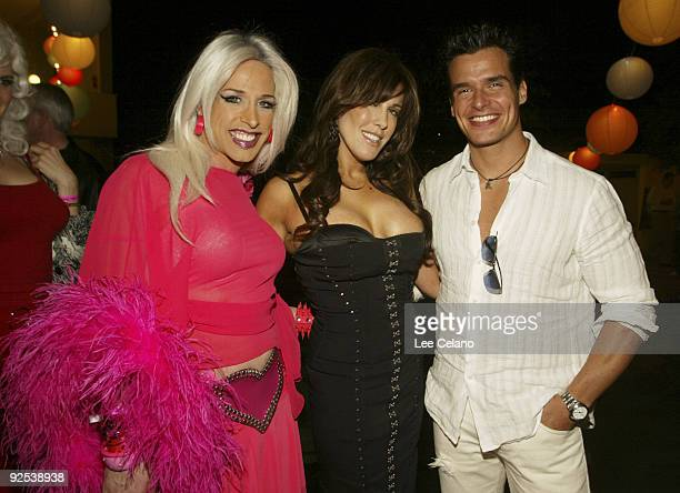 Alexis Arquette Cafe Entertainmen Chairwoman and CEO Celia Fox and Antonio Sabato Jr
