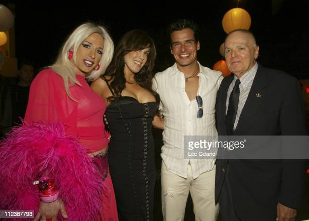 Alexis Arquette Cafe Entertainmen Chairwoman and CEO Celia Fox Antonio Sabato Jr and Robert L Friedman of Cafe Entertainment