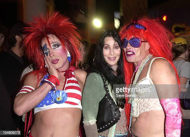 Alexis Arquette Cher and CandyAss during Stuff Magazine Takes Over Santa Monica Pier for 'Stuffland' at Santa Monica Pier in Santa Monica California...