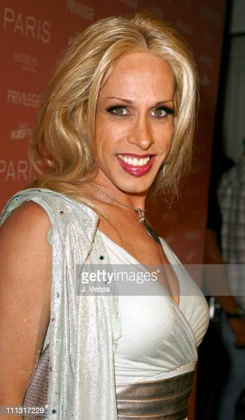 Alexis Arquette during Paris Hilton's CD Release Party at Privilege Red Carpet at Privilege in West Hollywood California United States