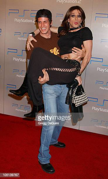 Alexis Arquette Friend during Playstation 2 'Playa Del Playstation' Party at Viceroy Hotel in Santa Monica California United States