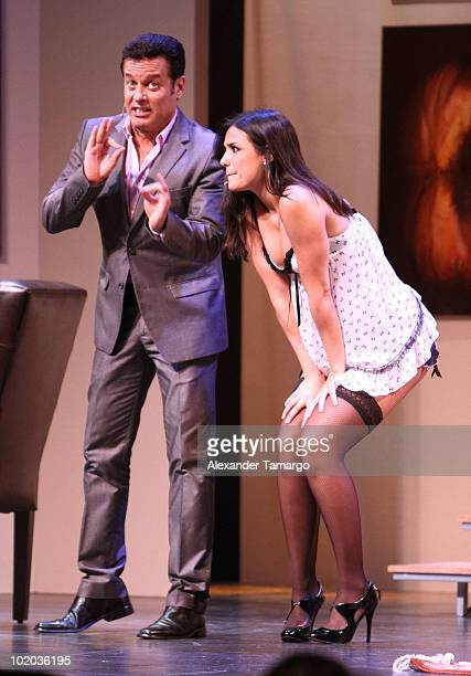 Alexis Ayala and Ana Carolina da Fonseca are seen performing at the premiere of 'Un Amante a la Medida' at the Gusman Center for the Performing Arts...