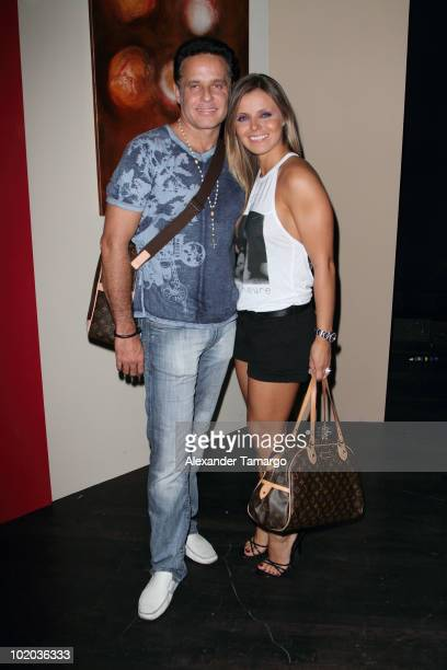 Alexis Ayala and Fernanda Lopez attend the premiere of 'Un Amante a la Medida' at the Gusman Center for the Performing Arts on June 12 2010 in Miami...