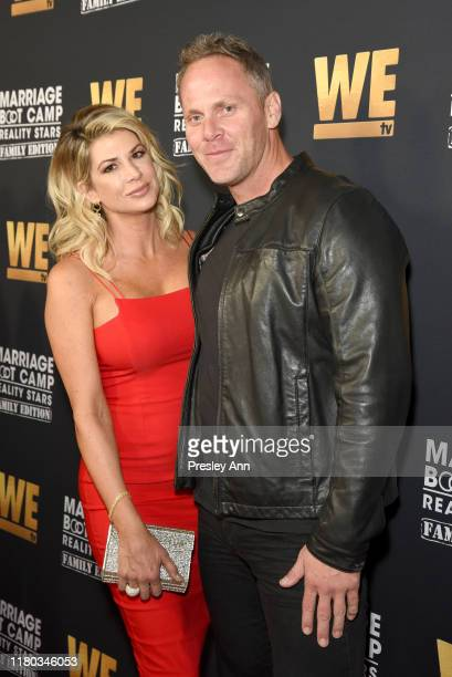 Alexis Bellino and Drew Bohn attends WE tv Celebrates the 100th Episode of the Marriage Boot Camp reality stars franchise and the premiere of...
