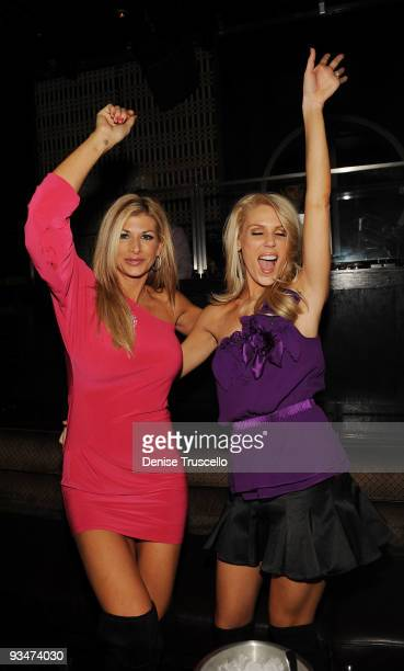 Alexis Bellino and Gretchen Rossi attend LAVO Nightclub at The Palazzo on November 29, 2009 in Las Vegas, Nevada.
