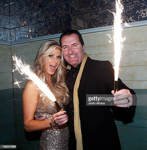 Alexis Bellino and husband Jim celebrate New Years Eve during the Alexis Bellino and Tamara Barney Host CIROC The New Year 2012 at Beverly Club on...