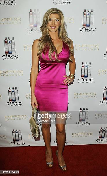 Alexis Bellino arrives at the 'Dancing With The Stars' preEmmy party hosted by 'Empress' By Sean John held at Trousdale on September 16 2011 in West...
