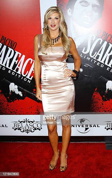 Alexis Bellino arrives at the 'Scarface' BluRay DVD release party held at Belasco Theatre on August 23 2011 in Los Angeles California