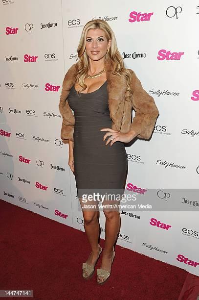 Alexis Bellino attends Star AllHollywood Party at AV Nightclub on April 24 2012 in Los Angeles California