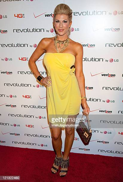 Alexis Bellino attends the LG Revolution party hosted by Verizon at The Sayers Club on August 17 2011 in Hollywood California