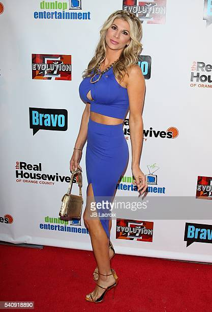 Alexis Bellino attends the premiere party for Bravo's 'The Real Housewives of Orange County' 10 Year Celebration at Boulevard3 on June 16 2016 in...