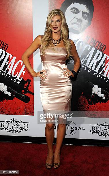 Alexis Bellino attends the 'Scarface' BluRay DVD Release Party at Belasco Theatre on August 23 2011 in Los Angeles California
