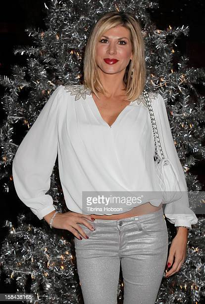 Alexis Bellino attends the Truehearts winter wonderland charity gala benefiting Children's Hospital Los Angeles at Avalon on December 16 2012 in...
