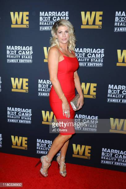 Alexis Bellino attends WE tv celebrates the premiere of 'Marriage Boot Camp' at SkyBar at the Mondrian Los Angeles on October 10 2019 in West...