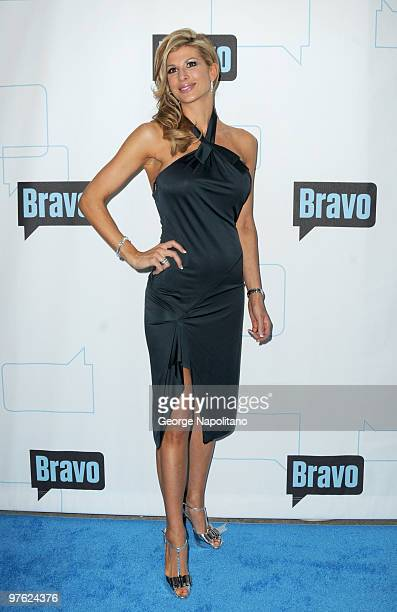 Alexis Bellino from the Real Housewives of OC attend Bravo's 2010 Upfront Party at Skylight Studio on March 10 2010 in New York City
