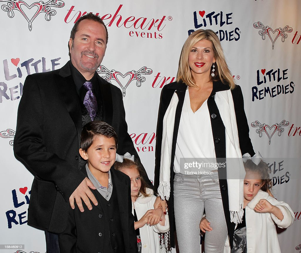 Alexis Bellino, Jim Bellino and their children attend the Truehearts winter wonderland charity gala, benefiting Children's Hospital Los Angeles at Avalon on December 16, 2012 in Hollywood, California.