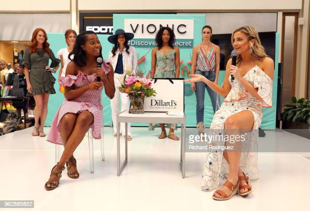 Alexis Bennett Ecommerce Editor for InStyle and host Kathryn Dunn participate in the InStyle xVionic Secrets to Spring Style event at Dillard's Hulen...