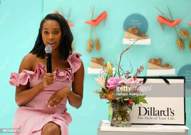 Alexis Bennett Ecommerce Editor for InStyle discusses spring fashin trends at the InStyle xVionic Secrets to Spring Style event at Dillard's Hulen...