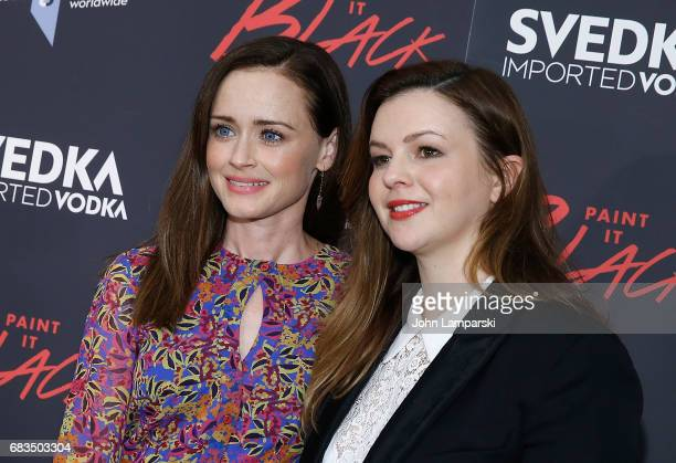 Alexis Bledel and Amber Tamblyn attend 'Paint It Black' New York premiere at the Museum of Modern Art on May 15 2017 in New York City