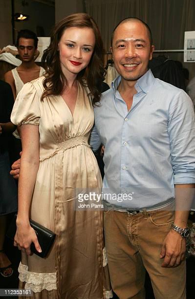 Alexis Bledel and Derek Lam during Olympus Fashion Week Spring 2006 Derek Lam at Milk Studios in New York City New York United States