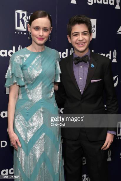 Alexis Bledel and Joshua Rush attend the 29th Annual GLAAD Media Awards at The Hilton Midtown on May 5 2018 in New York City