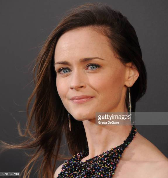 Alexis Bledel arrives at the premiere of Hulu's The Handmaid's Tale at ArcLight Cinemas Cinerama Dome on April 25 2017 in Hollywood California
