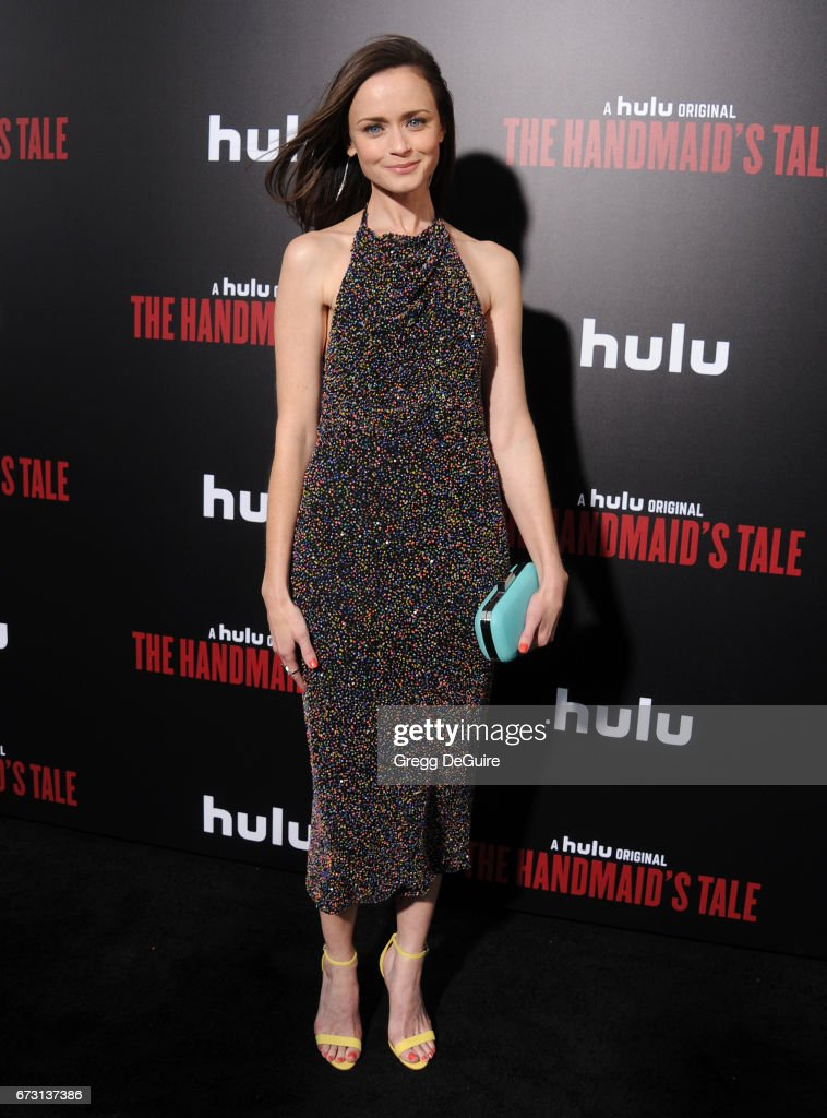 Alexis Bledel arrives at the premiere of Hulu's 'The Handmaid's Tale' at ArcLight Cinemas Cinerama Dome on April 25, 2017 in Hollywood, California.