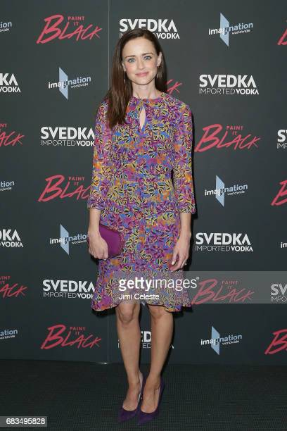 Alexis Bledel attend sthe New York premiere of 'Paint it Black' at the Museum of Modern Art on May 15 2017 in New York City