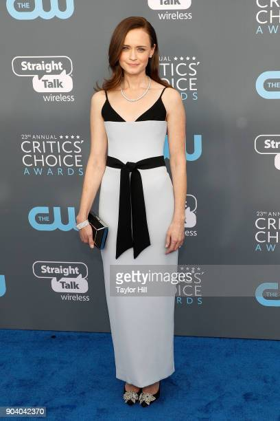 Alexis Bledel attends the 23rd Annual Critics' Choice Awards at Barker Hangar on January 11 2018 in Santa Monica California