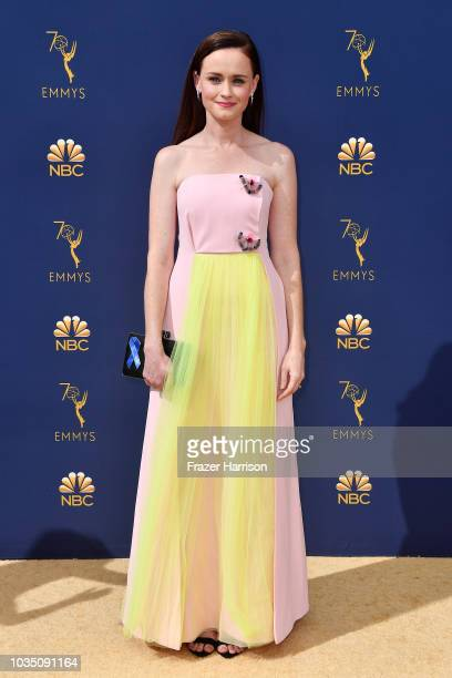 Alexis Bledel attends the 70th Emmy Awards at Microsoft Theater on September 17 2018 in Los Angeles California